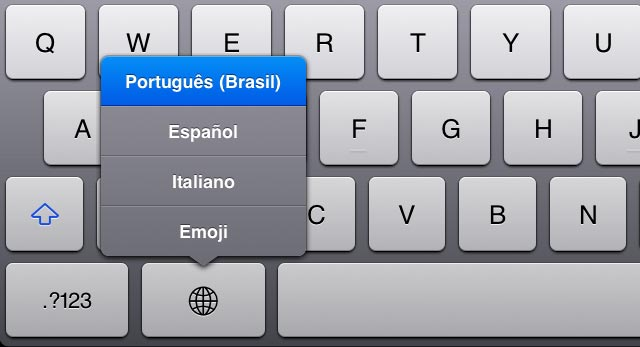 Emoticons no iPad e iPhone