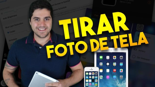 como tirar foto de tela no ipad ou iphone